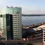 Вид на Волгу с 10 этажа дома на ул. Невской