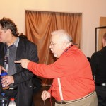 Организатор фестиваля - Черная роза- Олег Баянов (слева) с коллегой, организатором фестиваля - Гуляй,душа - Александром Раю