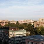 Вид с 10 этажа дома на ул. Лесной