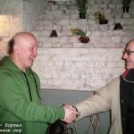 Скульптор Г.Долмагомбетов и поэт В.Шиленский