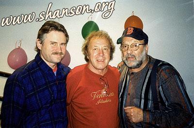 С Юрием Кукиным (в центре) и его другом Сергеем Арно, Нью-Йорк, 2002